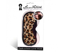 Lux Fetish Peek-a-Boo Love Mask, леопардовая — маска на глаза