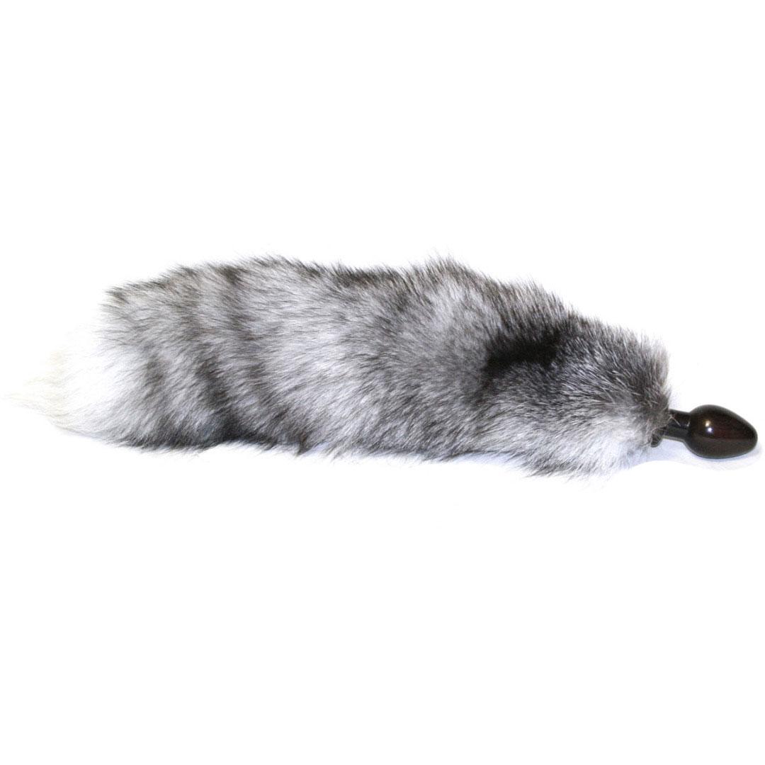 Wild Lust анальная пробка 4 см, серый С лисьим хвостом