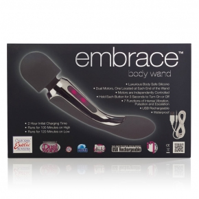 Вибромассажер California Exotic Novelties Embrace Body Wand Massager, серый