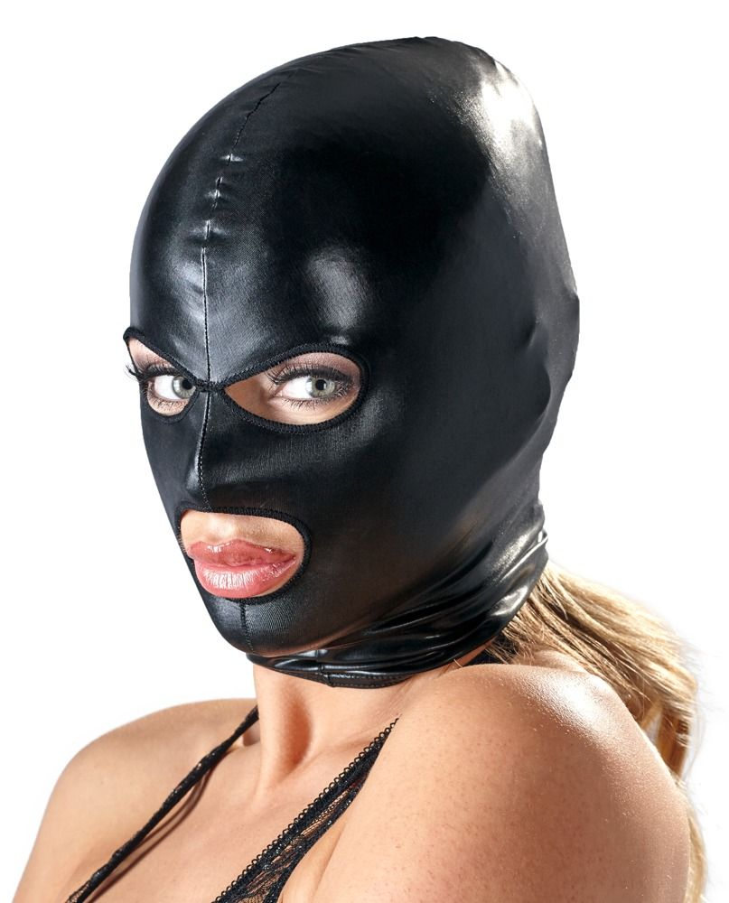 Sexy lace leather chain mask for women party bdsm fetish black eye mask