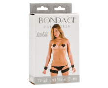 Оковы Lola Toys Bondage Collection Thigh and Wrist Cuffs