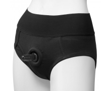 Трусики-брифы с плугом Doc Johnson Panty Harness with Plug Briefs, S-M