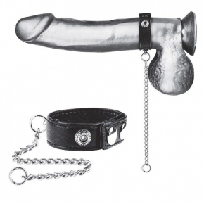 "Утяжка на пенис с поводком Snap Cock Ring With 12"" Leash"