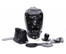 Шлем-трансформер Muzzled Universal BDSM Hood with Removable Muzzle
